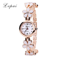 New Casual Fashion Bracelet Watch Flower Strap Wristwatch