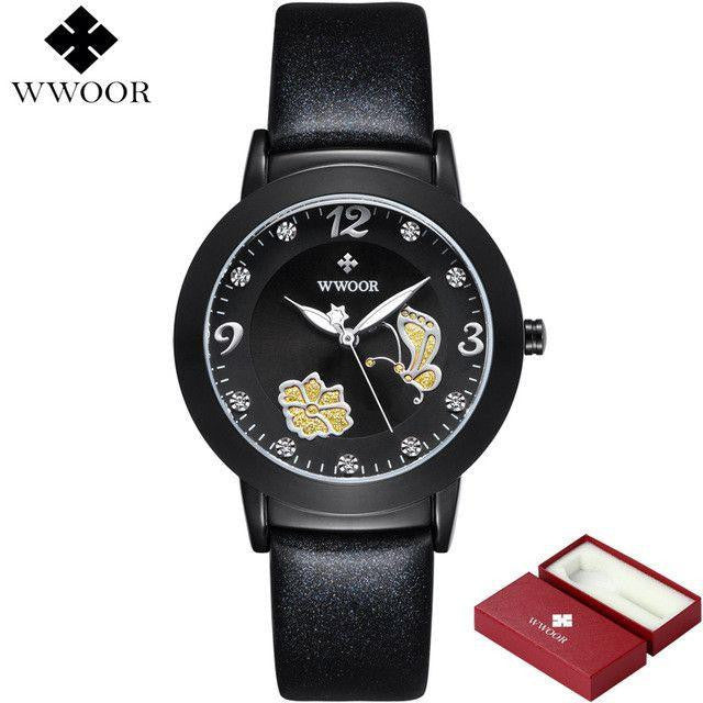 New Flower Butterfly Genuine Leather Watch