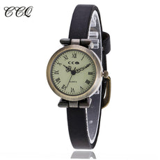New Leather Bracelet Watch Slim Wrist Watch