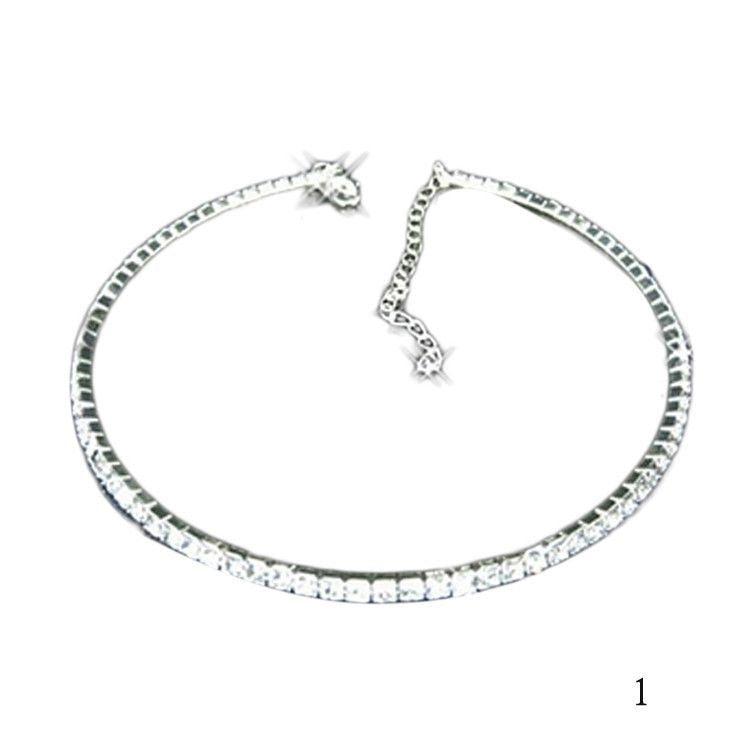 Outstanding Shining Crystal Rhinestone Collar Chain Choker Necklace
