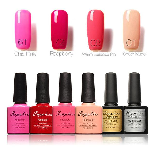 Pro Soak-off Nail Gel Polish Starter Kit 8 Colors