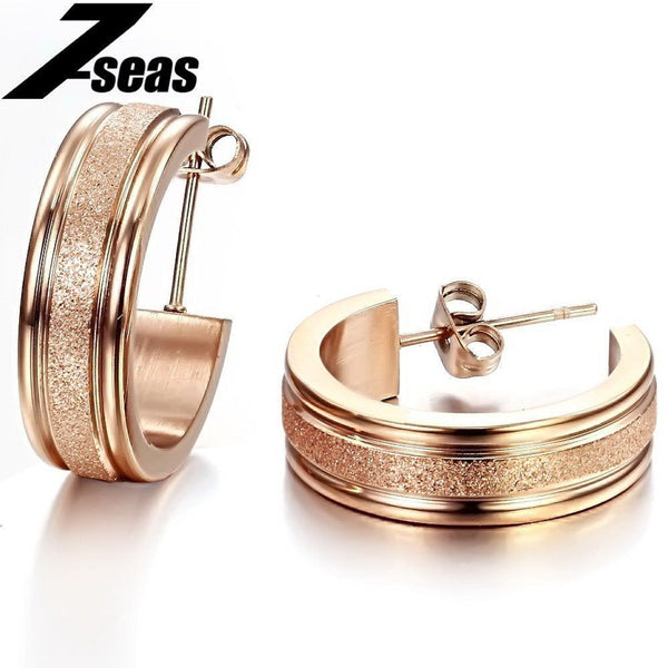 Rose Gold Plated Hoop Earring - Fashion Cornerstone