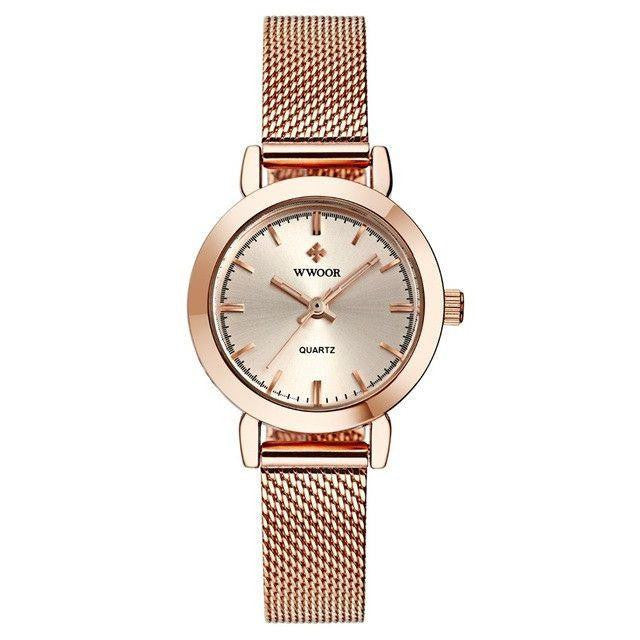 Rose Gold Stainless Steel Quartz Watch