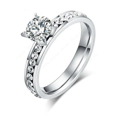 Stainless Steel Rings Diamond Fashion