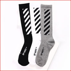 Striped tie dye socks Men Hip Hop Compression Off White Socks