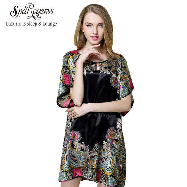 Summer Style Women Pajamas Faux Silk - Fashion Cornerstone