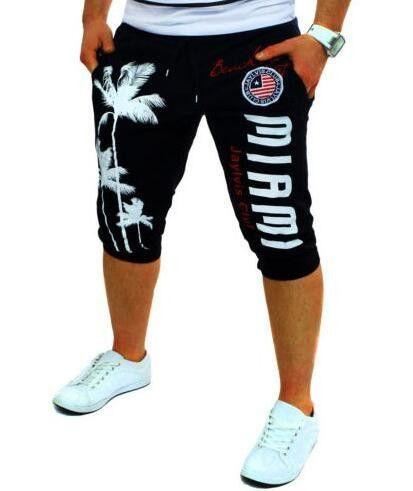 Tight Compression Palm Print Shorts