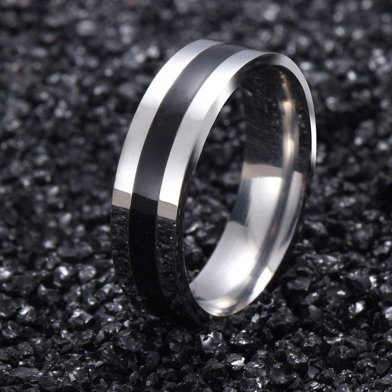 Titanium Band Rings White Gold