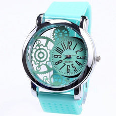 Top Silicone Rubber Mesh gadget dial Watch