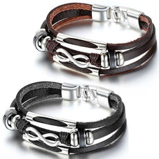 Unisex Three Layers Leather Wrap Bracelet