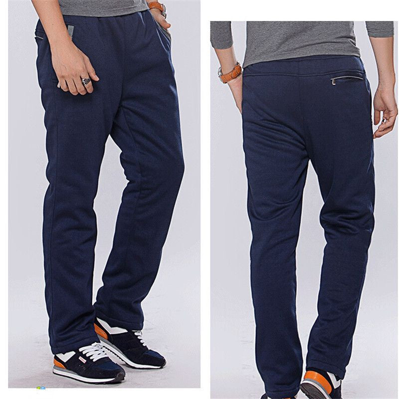 Winter Cotton Fleece Thicken Men's casual Pants