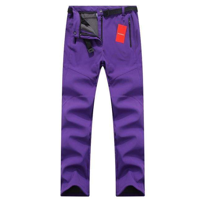 Women Thick Warm Fleece Softshell Pants1