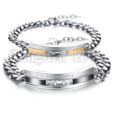 You Are My Only Love Stainless Steel Promise Bracelet
