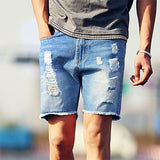 Ripped Jean style shorts - Urban Clothing Online
