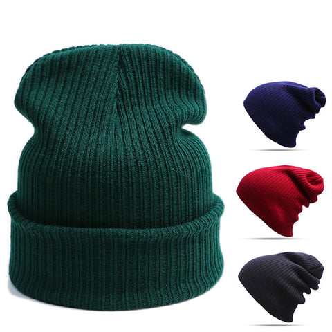 Fold Over Casual Beanie - Urban Clothing Online
