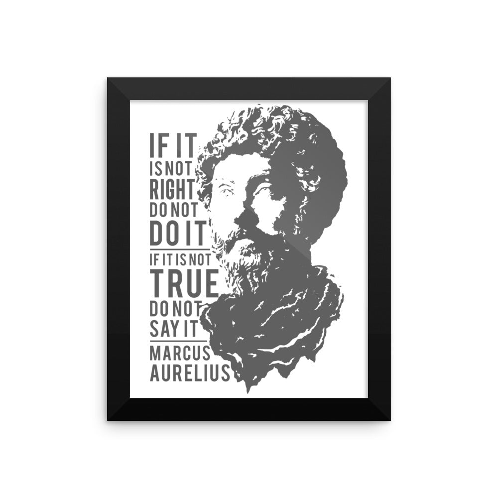 Marcus Aurelius Reminders Framed Wall Art