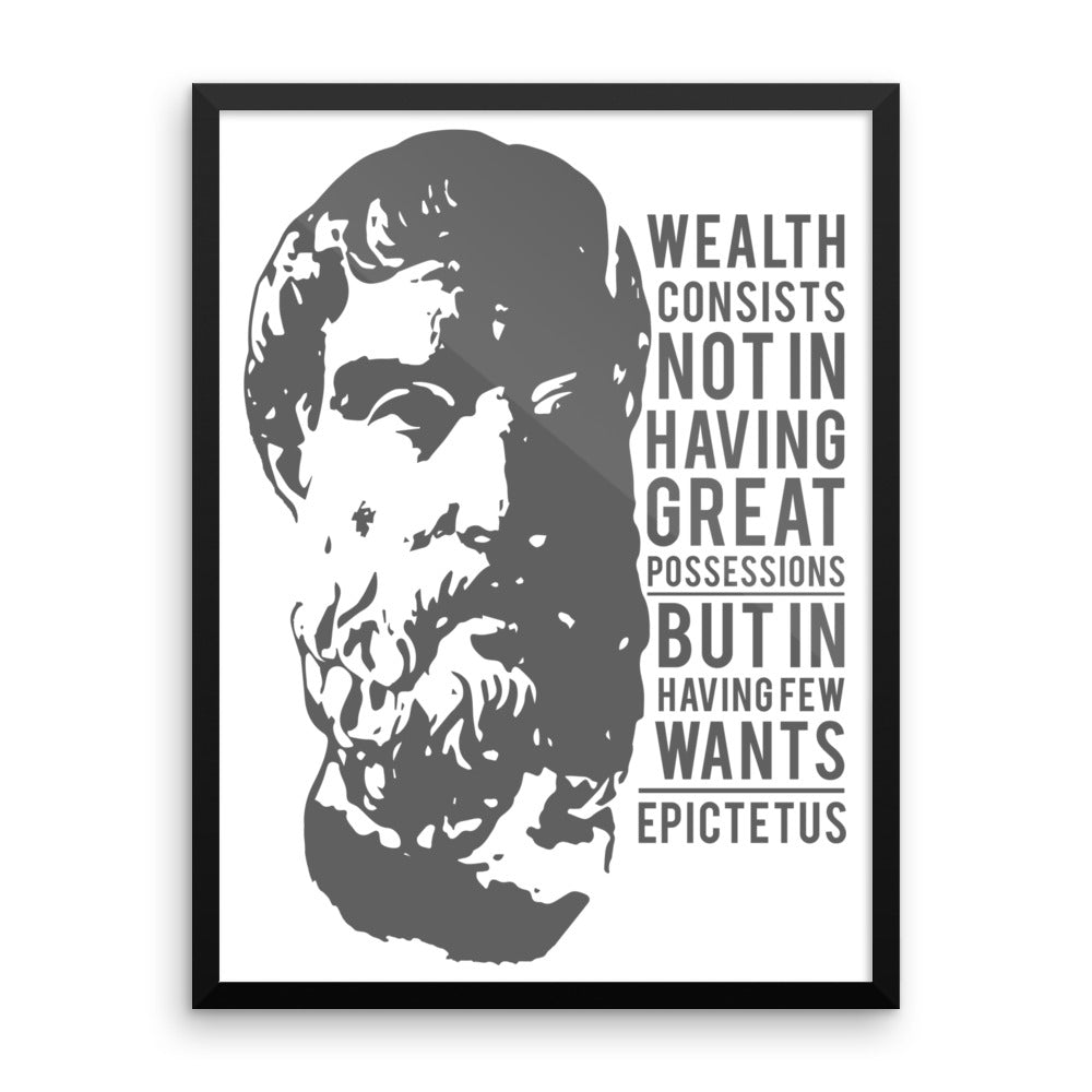 Epictetus Reminders Framed Wall Art