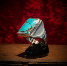 Rectangular Turquoise Signet Ring
