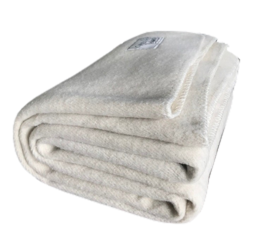 Antique Cream | Cream Wool Blanket - Woolly Mammoth Woolen Company