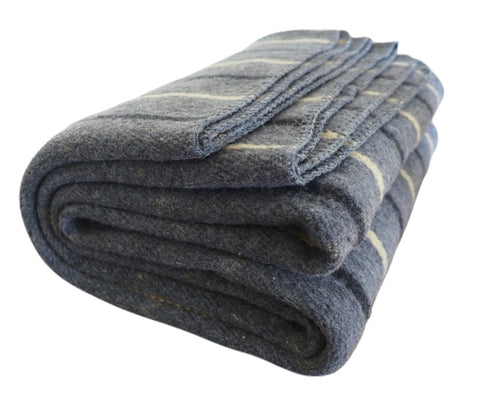 Stargazer | Gray and Yellow Wool Blanket - Woolly Mammoth Woolen Company