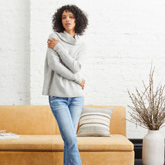 Abigail 100% Pure Cashmere Sweater in Mist.  Not Monday.