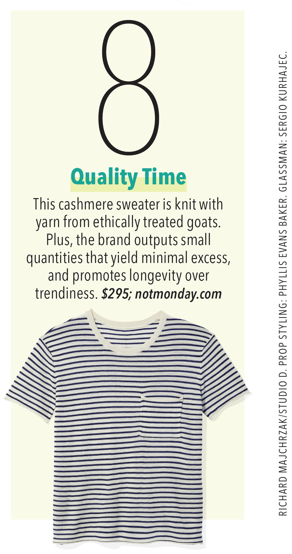 Isabelle Cashmere Short Sleeve Crewneck as seen in Oprah Magazine April 2020