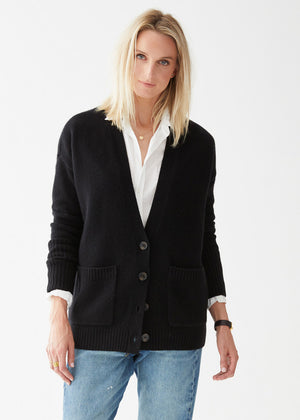 Load image into Gallery viewer, Addison Cashmere Cardigan Black
