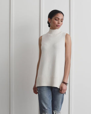 Load and play video in Gallery viewer, Anna Sleeveless Turtleneck Sweater