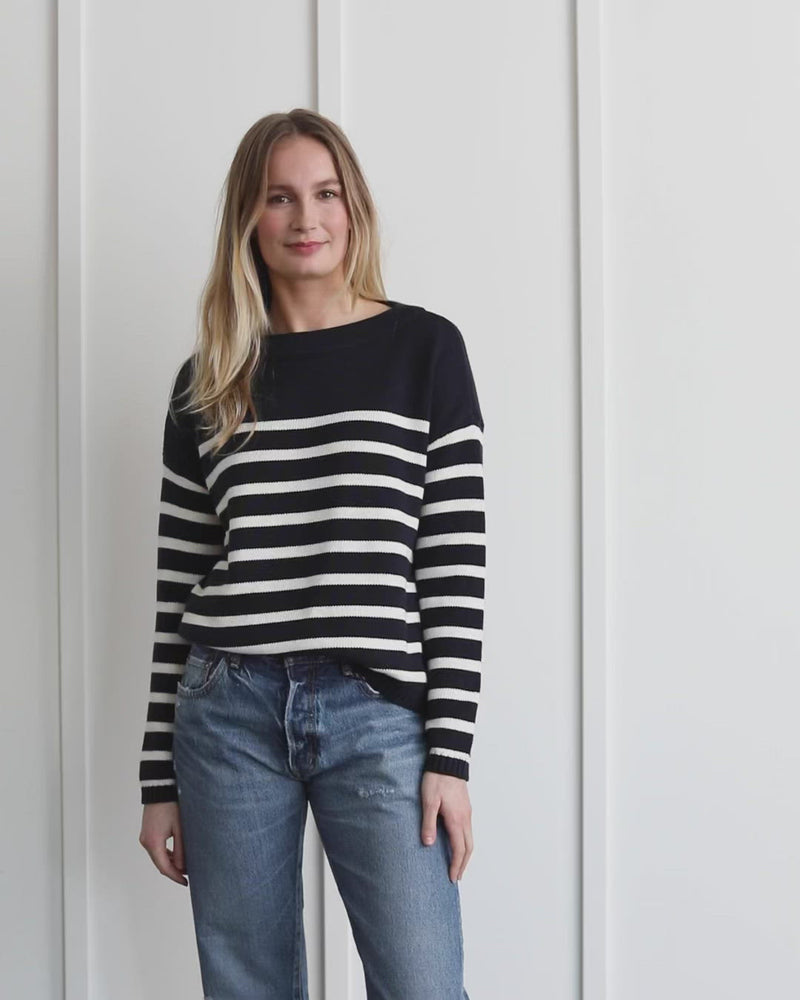 Load and play video in Gallery viewer, Piper Stripe Pullover