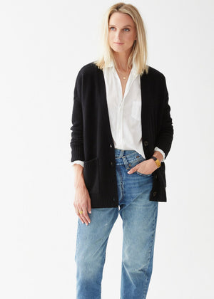 Load image into Gallery viewer, Addison Cashmere Cardigan Black - Not Monday