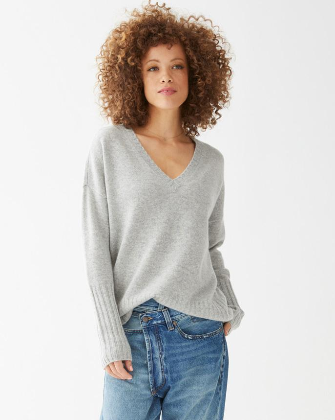 Load image into Gallery viewer, Ella Cashmere V-Neck Sweater - Not Monday