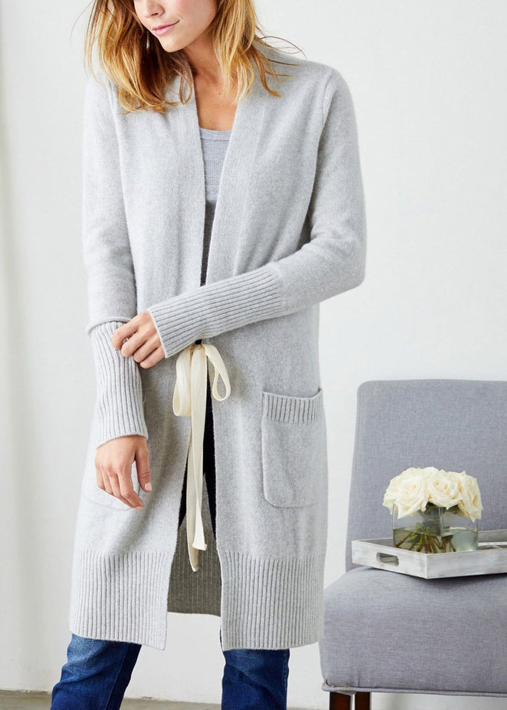 Ellie Cardigan Heather Grey - Not Monday