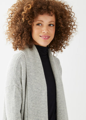 Emerson Cardigan Heather Grey - Not Monday