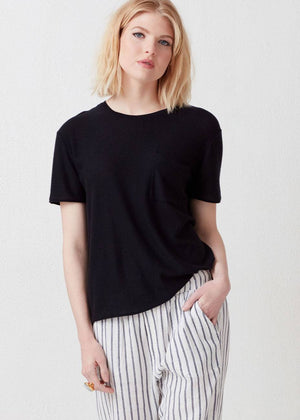 Isabelle Cashmere Short Sleeve Crewneck - Not Monday