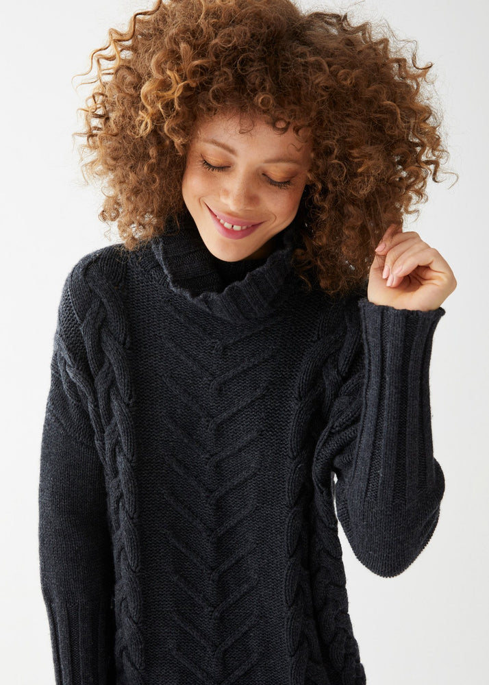 James Cable Pullover Charcoal Heather - Not Monday