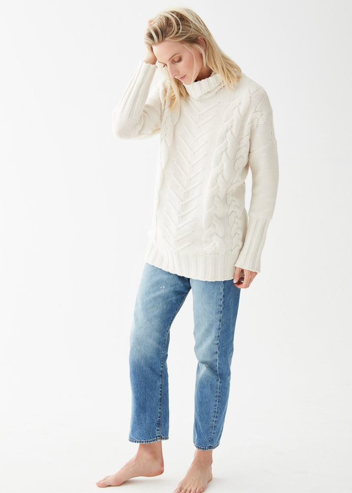 Load image into Gallery viewer, James Cable Pullover Ivory - Not Monday