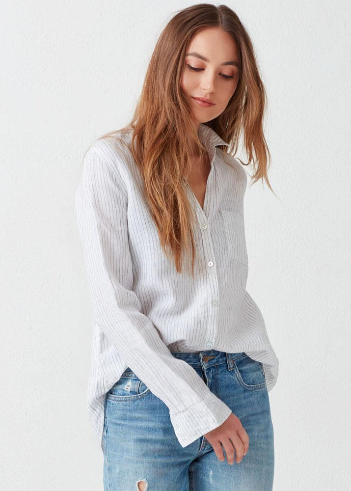 Load image into Gallery viewer, Kennedy Linen Button Down - Not Monday