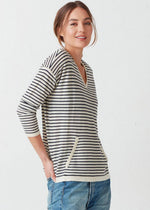Kinsley Cashmere Hoodie Stripe - Not Monday