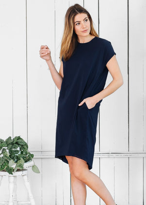 Madison Dress Navy - Not Monday