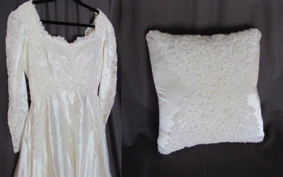 pillow from wedding dress