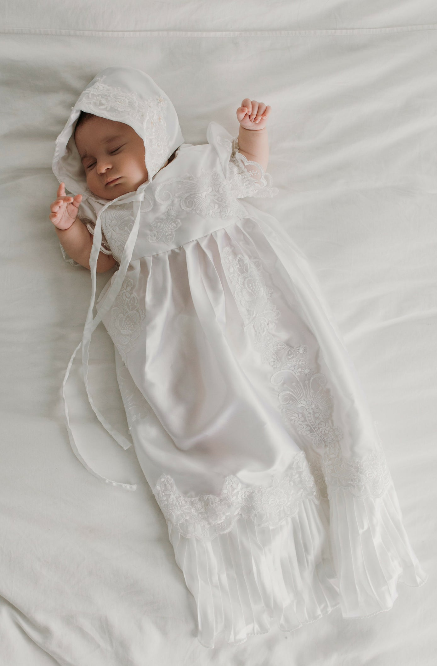 Made from Wedding Dress  or CUSTOM from Your Fabric newborn Romper Baptism  Christening Gown Outfit