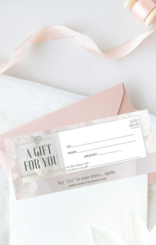 Wedding Dress Transformation Gift Card