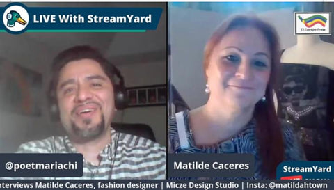 Art and Fashion Chat with our own in house Fashion Designer, Matilde Caceres and Tedx Speaker/Author, Daniel Garcia Ordaz