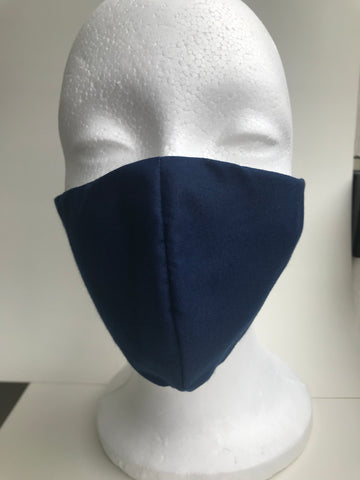 Navy blue protective face mask
