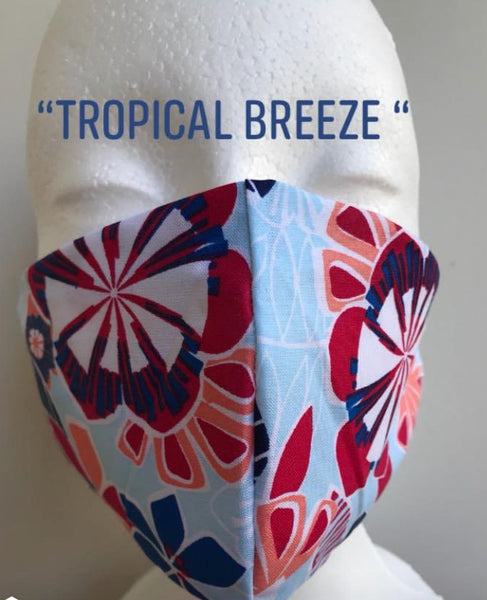 """Tropical Breeze"" Protective Fabric Face Mask"