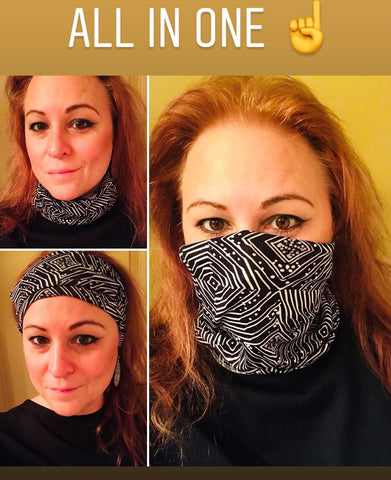 All In One-Face Covering-Neck Scarf -Head Band