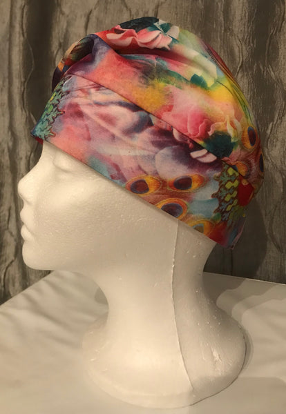 Peacock Print French Beret Hat-Limited Edition