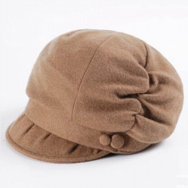 100% Wool Women Fashion Lady Elegant British Style Beret
