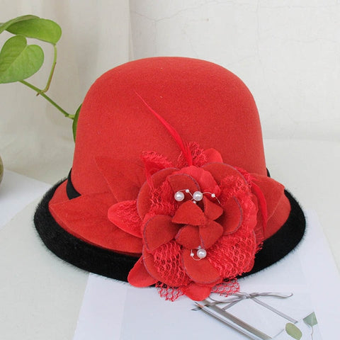 Elegant Church Hat For Women / Wool Felt