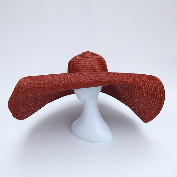 Sienna Oversized Floppy Big Beach Hat Fashion Foldabl